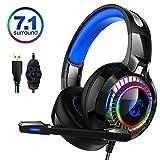 HUOGUOYIN Computer-Headset Gaming 7.1 RGB-HiFi Noise-Cancelling-Kopfhörer-Gamer 7.1 Echt Stereo...