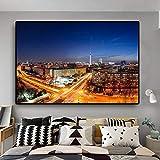 N / A China Oriental Pearl TV Tower Berhmte Architektur Poster und Drucke Leinwand Wandkunst...