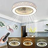 LED Dimmbar Deckenleuchte, Deckenventilator Fan deckenventilator mit fernbedienung leise...