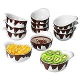 MamboCat Blob Schokofondue Set - 12x Schalen I Ø 9,5 cm I 150 ml I geschmolzenes Schokoladen-Dekor...