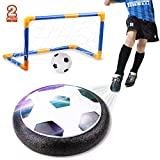 amzdeal Air Football Set Inkl 1 x Luftkissen Fussball + Mini Fußball +2* Fußballtor + Ball Pumpe...