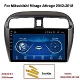 KEYI Autoradio Auto GPS Navigation Fahrzeug Android 8.1 für Mitsubishi Mirage Attrage 2012-2018...