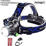 SHALU LED Scheinwerfer Fischen Scheinwerfer T6 / l2 3-Modi Zoomable Lampe wasserdichte Stirnlampe...