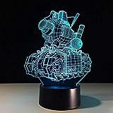 3D Illusion Nachtlicht Bluetooth Smart Control 7 & 16M Farbe Mobile App Led Vision Machine Panzer...