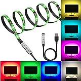ERCZYO LED-Lichtleisten-Kits, 1 m RGB-LED-Hintergrundbeleuchtung mit Mini-Controller for...