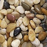 Eurosand Flusskiesel KLEIN ca 8-25 mm 0,5 KG. Kleine Flukiesel, Kieselsteine 500 Gramm GEMISCHT