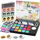 lenbest Kinderschminke Set, 17 Professionelle Schminkfarben Größere Kapazität Schwarz-Weiß, mit...