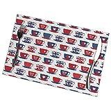 Mxung Teetasse mit dem Thema Großbritannien Tischsets für Esstisch Set aus 6-teiligem waschbarem...