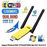 FASD Super Speed USB 3.0-Netzwerkkarte Dongle 5-GHz-Band 802.11ac WiFi 2.4 Ghz...