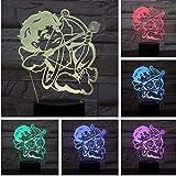 Licht Pfeil und Bogen 3D LED Lampe Nachttischlampe RGB Junge Kind Kinder Baby Geburtstagsgeschenk...
