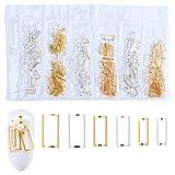 Ototon Nail Art 3D-Dekoration, Mond, quadratisch, Strass, Feder, mehrere Größen, Pailletten,...