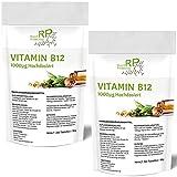 280-540 Tabletten Vitamin B12, (7 bis 14 Monate Vorrat), 1000µg Hochdosiert, mit super reinem...
