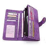 zyh1229 Frauen Lange Matte Brieftasche weibliche Kartentasche Damen Geldbörse schlanke Mobile...