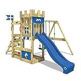 WICKEY Spielturm RoyalFlyer - Klettergerüst mit Schaukel, Sandkasten, Kletterwand und -leiter,...