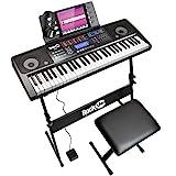 RockJam RJ761 61 Tastatur-Klavier-Kit, 61 Schlüssel-Digital-Piano, Keyboard Bench,...