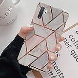 Herbests Kompatibel mit Samsung Galaxy Note 10 Plus Marmor Hülle Silikon Case Weich TPU...