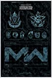 Call of Duty: Modern Warfare Fractions (93x62 cm) gerahmt in: Rahmen Weiss
