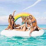 Riesiger Aufblasbarer Luftmatratze Regenbogen-Wolke Pool Floß Schwimmen Schwebebett Wasserspielzeug...