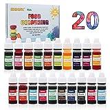Lebensmittelfarbe flüssig Set, 20 lebensmittel farbenzum für alle Backen und Dekorieren,...