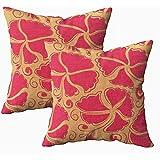 Ruthxiaoliang Cusion Kissenbezug, Orange Rot Hibiskus Muster Tropische Blumen in Aquarell Styleative...