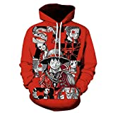 DSHHF 3D Hoodie 3D-Digitaldruck One Piece Luffy XL Rollkragenpullover