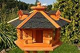 Vogelhaus, Vogelhuschen behandelt mit Bitumschindeln