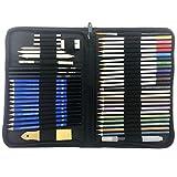 HONGFAGO 51 Pcs Aquarell Bleistifte,Buntstifte Farbstifte Skizzieren Kunst Set,Zeichen zubehör set...