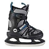 K2 Skate Jungen Raider Ice Schlittschuhe, Schwarz/Grau, XS/US 8-12/EU 26-31