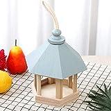VERLOCO Deko Vogelhaus bunt, Holz Vogelfutterspender aus Holz, Kleines Vogelhäuschen, Blaues Dach...