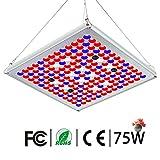 Pflanzenlampe 75W TOPLANET, Led Grow Lampe Vollspektrum mit UV IR Rot Blau Licht Pflanzenlicht full...