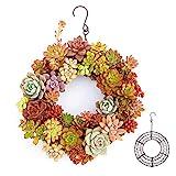 anruo Eisenhaken hängen Blumentopf Kreis Kranzform Sukkulenten Blumentopf modernen Kranz hängenden...