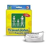 TravelJohn Einweg-Urinalbeutel, 6 x 3 Pack (18 Urinale)