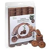 OwnGrown Kokos Quelltabletten mit Nährstoffen – 100 Stück, Kokoserde gepresst zur Pflanzen...