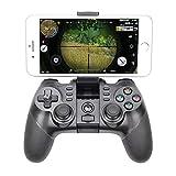 LHTE Bluetooth Gamepad für PS3, Wireless Controller mit Halter Konsole Joystick Android...