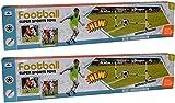 AlbTrade 2 Stück Kinder Fußballtor 100cm x 60cm x 53cm Spieltor Gartenspielzeug