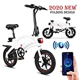 E-Bike Klapprad, E-Faltrad Damen Herren, Elektrofahrrad Alu 14zoll, 36V Lithium-Ionen-Akku, 250W,...
