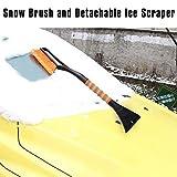 Cokeymove Schneebürste, Abnehmbarer Eiskratzer ABS-Material Einfach zu verwendende Schneeschaufel,...