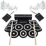 WMDXTM Tragbare Roll Up Elektronische MIDI Drum Set Kits 9 Pads Eingebaute Lautsprecher, geeignet...