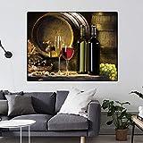 ganlanshu Moderne Traubenfrucht Weinglas Kunst Bild fr Kche Bar Wanddekoration Wohnzimmer Leinwand...