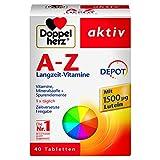 Doppelherz A-Z DEPOT Langzeit-Vitamine – Multivitamin-Nahrungsergänzungsmittel mit vielen...
