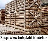 Palisaden Holz Ø7 cm x 3,00 m Länge, •••155 Stk. = 1 VE••• Sichtschutz,...