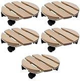Pflanzenroller Holz MASSIV rund 30 cm bis 120 KG (5)