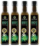 Kräuterland Bio Hanföl, Bio-zertifiziert, 1 Liter (4x 250ml), kaltgepresst, 100% naturrein, vegan,...