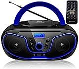 Tragbarer CD-Player | Boombox | CD/CD-R | USB | FM Radio | AUX-In | Kopfhöreranschluss | CD Player...