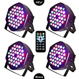 LED PAR Licht 36W 36LEDs RGB 7 Beleuchtung 4 STÜCK Modi Disco Lichteffekte dj party Licht...