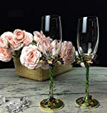 ZXMXY Champagner-Glasses Iris Carved Wine Cup Enamel Retro Classic Crystal Cups Home Geschenkartikel...