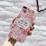 Karen Lewist Handyhülle TPU Weiß Matt Geprägte Vogel Sprache Floral Schutzhülle Für iPhone - 8#