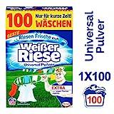 Weier Riese Universal Pulver, Vollwaschmittel, 100 Waschladungen, extra stark gegen Flecken