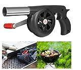 FireAngels manueller Ventilator, Luftgebläse für Grill, Feuer-Balg, Kochen im Freien, Picknick,...