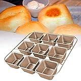 cuffslee Schwerer Kohlenstoffstahl Brownie Backform Backform Antihaft Muffin Backformen Brotbackform...